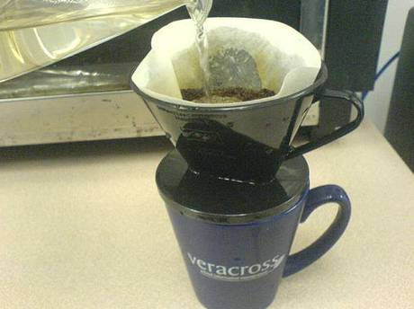 coffee Brewing in a cup